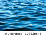 Deep blue water surface texture - stock photo