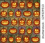 halloween shabby background | Shutterstock . vector #129329513