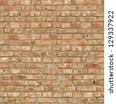 Old Red Bricks with Cracks and Dirt Spots. Seamless Tileable Texture. - stock photo
