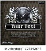 racing emblem  speedometer ... | Shutterstock .eps vector #129342647