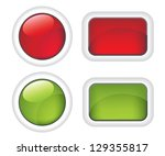 white buttons red and green ... | Shutterstock . vector #129355817