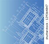 vector of blue print architect | Shutterstock .eps vector #129364847