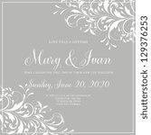 wedding invitation | Shutterstock .eps vector #129376253