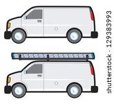 a plain white generic work van...   Shutterstock .eps vector #129383993