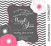 wedding invitation | Shutterstock .eps vector #129386237