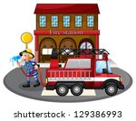 illustration of a fireman...