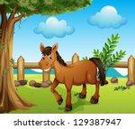 illustration of a horse under...