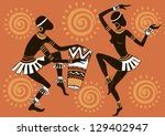 african woman. dancing woman....   Shutterstock .eps vector #129402947