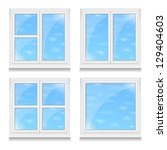 set of different windows with... | Shutterstock .eps vector #129404603