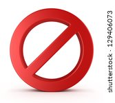 no sign   isolated on white... | Shutterstock . vector #129406073