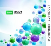 colored balls background | Shutterstock .eps vector #129407777