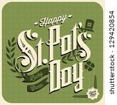 Happy St Patrick's Day - stock vector