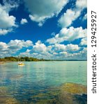Lake Balaton In Hungary With...
