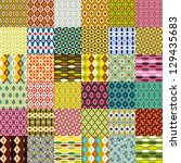 big retro pattern collection | Shutterstock .eps vector #129435683