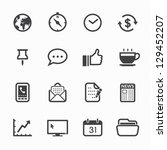 business and office icons with...
