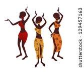 beautiful ethnic women...   Shutterstock .eps vector #129457163