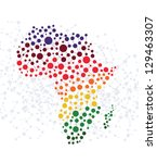 africa abstract background with ... | Shutterstock .eps vector #129463307