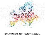 Europe abstract background with dot connection vector - stock vector