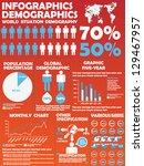 infographic demographic modern... | Shutterstock .eps vector #129467957