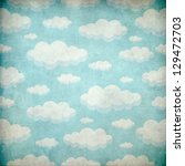 textured cloud background | Shutterstock . vector #129472703