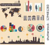 infographics elements. city... | Shutterstock .eps vector #129481283