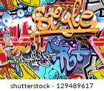 graffiti wall. urban art vector ...