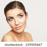 woman beauty portrait. close up ... | Shutterstock . vector #129505667
