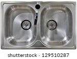 stainless water tap and wash... | Shutterstock . vector #129510287