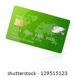 credit card green icon isolated ... | Shutterstock .eps vector #129515123