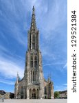 Ulm Minster, the tallest church in the world, Germany - stock photo