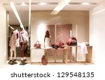 Boutique display window - stock photo