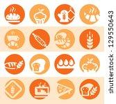 elegant colorful bakery icons...   Shutterstock .eps vector #129550643