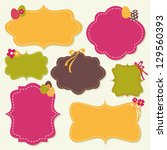 a set of cute decorative labels ... | Shutterstock .eps vector #129560393