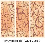 vertical abstract banners with...   Shutterstock .eps vector #129566567