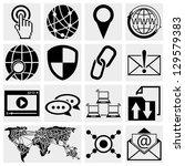 internet icons set | Shutterstock .eps vector #129579383