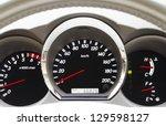 modern car dashboard closeup ... | Shutterstock . vector #129598127
