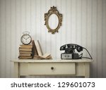 vintage interior close up with... | Shutterstock . vector #129601073