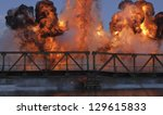 Explosion On A Bridge Over Th...