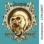 royal monkey | Shutterstock .eps vector #129618857