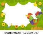 the happy easter frame  ... | Shutterstock . vector #129625247