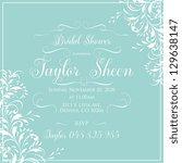 bridal shower | Shutterstock .eps vector #129638147