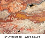 Closeup of design on a crazy lace agate - stock photo