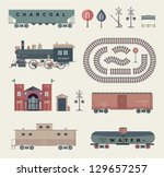 vector train set | Shutterstock .eps vector #129657257
