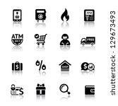 Set shopping icons, vector illustration - stock vector