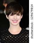 Anne Hathaway arriving for the EE BAFTA Film Awards 2013 at the Royal Opera House, Covent Garden, London. 10/02/2013 Picture by: Steve Vas - stock photo