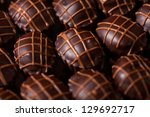 sweet food. delicious chocolate ... | Shutterstock . vector #129692717