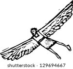 vector illustration of icarus