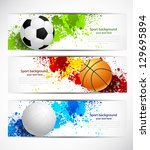 Set of sport banners - stock vector