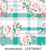 seamless wallpaper vintage... | Shutterstock .eps vector #129706067