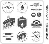 Set Of Bakery Logos  Labels ...
